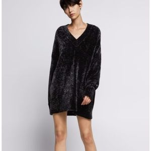 Black Zara Chenille Sweater Dress